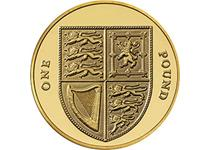 First issued in 2008, this redesigned £1 coin features the Royal Arms Shield on the reverse. Uncirculated quality.