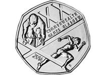To celebrate Glasgow holding the 2014 Commonwealth Games, the Royal Mint issued an official XX Commonwealth Games 50p coin.
