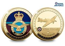 The Hawker Hurricane Gold-Plated Commemorative is 44mm enamel filled & Gold Plated. Officially licensed with RAF. comes with Certificate of Authenticity.