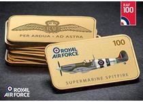 This 24ct gold-plated ingot commemorates the 100th Anniversary of the RAF and features one of the most iconic aircrafts from WWII, the Supermarine Spitfire. EL: 19,500.