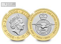 Issued in 2018 to commemorate the centenary of The RAF, formed in 1918 during The First World War. This £2 has been protectively encapsulated and Certified as Superior Brilliant Uncirculated quality.