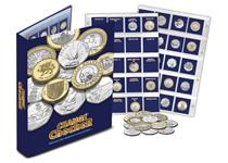 A ring binder album available for Change Checker users to build the full collection of 10p, 50p £1 and £2 coins. Includes 6 PVC pocket pages and ID cards for each coin.