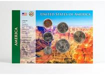 The first two coin sets in the Change Checker World Edition Club. Includes a USA Dollar pack, and a China Yuan pack. Both packs come presented in specifications cards, and includes a certificate.