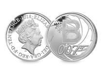This Silver 10p has been struck by The Royal Mint to celebrate Great Britain. It features the letter 'B' and represents Bond. This 10p comes presented in an acrylic block.
