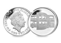 This Silver 10p has been struck by The Royal Mint to celebrate Great Britain. It features the letter 'D' and represents Double Decker Bus. This 10p comes presented in an acrylic block.