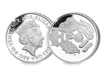 This Silver 10p has been struck by The Royal Mint to celebrate Great Britain. It features the letter 'E' and represents English Breakfast. This 10p comes presented in an acrylic block.