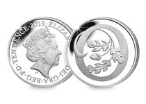 This Silver 10p has been struck by The Royal Mint to celebrate Great Britain. It features the letter 'O' and represents Oak. This 10p comes presented in an acrylic block.