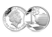 This Silver 10p has been struck by The Royal Mint to celebrate Great Britain. It features the letter 'T' and represents tea. This 10p comes presented in an acrylic block.
