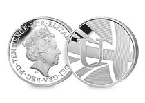 This Silver 10p has been struck by The Royal Mint to celebrate Great Britain. It features the letter 'U' and represents the Union Jack. This 10p comes presented in an acrylic block.