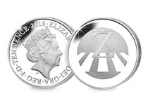 This Silver 10p has been struck by The Royal Mint to celebrate Great Britain. It features the letter 'Z' and represents Zebra Crossings. This 10p comes presented in an acrylic block.