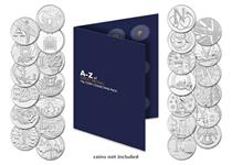 The Change Checker A-Z 10p Collecting Pack has space to display all 26 of the A-Z 10p coins issued in 2018. Place the 10p coins in the push in blisters in the pack as you find them in your change.