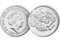 This 10p coin has been issued by The Royal Mint to celebrate Great Britain. It features the letter 'E' - English Breakfast.