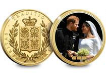 Wedding of HRH Prince Henry of Wales on 19 May 2018. Gold-Plated NumisProof features a photograph from the day and the heraldic NumisProof design on the obverse. Comes in presentation box with cert.