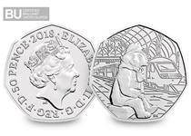 This is the first ever 50p to feature the much-loved Paddington Bear. Issued in 2018 by The Royal Mint to celebrate the 60th anniversary of the British Bear. Protectively encapsulated & certified BU.