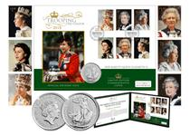 Silver Coin Cover to celebrate the Queen's Official Birthday. Features UK 2018 Silver Britannia £2 coin with 2013 Royal Portraits stamps. Postmarked on 9th June 2018. Edition Limit: 250