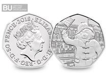 This is the second Paddington Bear 50p issued by The Royal Mint in 2018, to celebrate the iconic 60th anniversary of the British Bear. Protectively encapsulated & certified as superior BU quality.