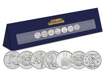 A specially designed Change Checker Display Stand that spells out 'teacher'   using the beautifully illustrated A-Z 10p Coins. An ideal gift for a special teacher.