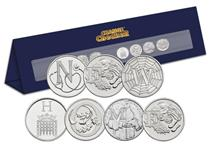 A specially designed Change Checker Stand that spells out 'New Home'   using the beautifully illustrated A-Z 10p Coins. An ideal gift and a great memento for that very special home.