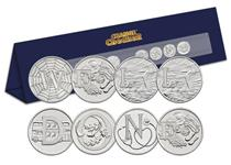 A specially designed Change Checker Stand that spells out 'Well Done'   using the beautifully illustrated A-Z 10p Coins. An ideal gift to celebrate a special moment.