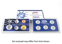 A lucky dip of a US Modern Proof Coin Set. Each set includes at least 10 coins, each struck to a proof finish. The set is housed in United States Mint packaging.
