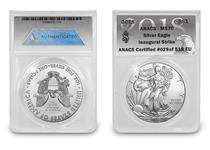 The US Silver Eagle has been issued every year since 1986. This 2018 1oz Silver Eagle has been independently graded as MS70 Brilliant Uncirculated Quality.