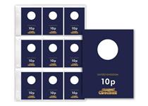 1 x Additional Change Checker PVC page and 9 x Premium Protective Collecting cards for UK 10p coins. The perfect way to present and protect your coins for a lifetime.
