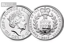 To celebrate the centenery of the House of Windsor, the Royal Mint has issued a new £5 coin. This £5 has been protectively encapsulated and Certified as Superior Brilliant Uncirculated quality.
