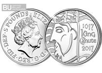 To celebrate the 1000th anniversary of the coronation of King Canute, hailed the 'first king of all England', a brand new £5 coin has been issued by The Royal Mint.