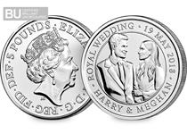 This £5 coin was issued by The Royal Mint in 2018 to celebrate the wedding of HRH Prince Harry to Ms Meghan Markle. It is protectively encapsulated and in superior Brilliant Uncirculated condition.
