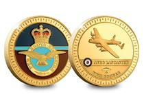 The Avro Lancaster Gold-Plated Medal is 44mm enamel filled and 24-Carat Gold-Plated. Officially licensed with the RAF. Comes with Certificate of Authenticity