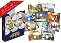 The 'History of Britain in Coins' Collecting Album is an exciting way to collect some of the most historically significant and interesting UK 50p and £2 coins in circulation during the decimal era.