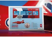 Silver Cover issued in support of the Red Arrows 2018 Display Season. Features GB 2018 Red Arrows Miniature Sheet and official 2018 Red Arrows 999/1000 Silver Commemorative medal.