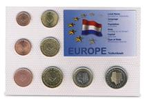 This Netherlands coin set features currency from the introduction of the EURO in 2002, protectively encapsulated within an information card.