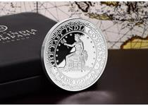 Issued by The East India Company, this modern reproduction US Trade Dollar has been re-issued in Pure Silver and strictly limited tojust 2,500 coins.