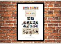 Limited Edition Presentation Frame featuring 19 Royal Mail Harry Potter stamps PLUS 2 Harry Potter Miniature Sheets. New 2018 stamps officially postmarked on first day of issue, 16.10.2018. EL: 750.