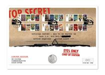 UK coin cover featuring The Royal Mint's 2018 Bond Silver 10p coin and Royal Mail's 2008 James Bond stamps issued to celebrate the James Bond films.Postmark: 06.10.2018. Edition limit: 500.