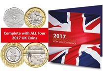 The 2017 Commemorative Coin Pack includes the brand new coins of 2017. The set includes: Sir Isaac Newton 50p, Jane Austen £2, WW1 Aviation £2, King Canute £5 and the House of Windsor £5.