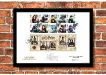 Presentation Frame featuring Royal Mail's brand new 2018 Harry Potter 10v stamps. Signed by actor Katie Leung who played Cho Chang and has been postmarked on the first day of issue: 16.10.18. EL: 250.