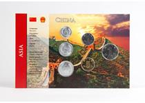 This China coin pack features 6 Chinese currency coins, from the 1 Fen to the 1 Yuan. All the coins are protectively encapsulated in display packaging with an image of the iconic Great Wall of China.