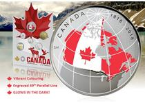 The Canadian 'From Far and Wide' Coin Set features all the 2018 circulating Canadian coins including a 50 cent coin that combines engraving, colour and glow-in the dark technology.