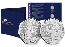 The Paddington Coin Pack has space to fit both commemorative coins issued in 2018.