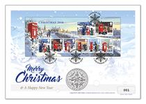 2018 Christmas coin cover featuring Royal Mail's brand new 2018 Christmas miniature sheet and The Royal Mint's 2018 Nutcracker £5 coin. Postmarked first day of advent, 01.12.2018. EL: 500.