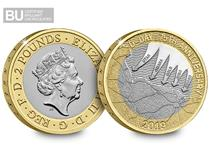 This £2 was issued in 2019 to mark the 75th Anniversary of the D-Day Normandy Landings. It is in Brilliant Uncirculated quality and is protectively encapsulated in official Change Checker packaging.