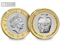 This £2 was issued in 2019 to mark the 260th Anniversary of Wedgwood. This £2 is in Brilliant Uncirculated quality and is protectively encapsulated in official Change Checker packaging.