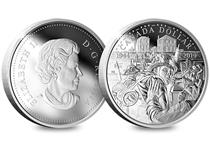 Issued by The Royal Canadian Mint to mark the 75th Anniversary of the D-Day Landings in Normandy which tookplace 6th June 1944.The D-Day Silver Proof Dollar is struck in 99.99% silver.