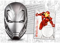 This is the Iron Man coin from the Marvel Icon Coin Series. Struck from 2oz of .999 silver and features an amazing high-relief finish. Each coin includes a certificate struck from 2g of pure silver.