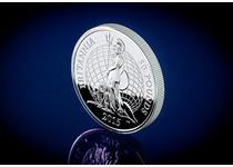 Your 2015 UK £50 Fine Silver Britannia was struck by the Royal Mint from .999 Fine Silver. Features designs by Jody Clark. Comes in original Royal Mint packaging with Certificate of Authenticity.