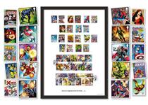 Limited Edition Presentation Frame featuring ALL MARVEL stamp issues ever released in the UK and USA. New 2019 stamps officially postmarked on the First Day of Issue, 14.03.19. EL: 495.