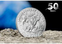 Pay tribute to the first ever Moon landing with a commemorative Silver Dollar struck in 1971. You'll receive another US coin - the 2000 Sacagawea dollar - absolutely FREE!!