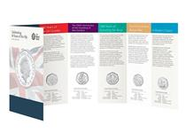 This BU Pack has been issued by the Royal Mint to mark the 50th Anniversary of the 50p. Struck in base metal to a Brilliant Uncirculated finish, and will come in the official Royal Mint pack.